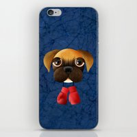 boxer iPhone & iPod Skins featuring Boxer by Sloe Illustrations
