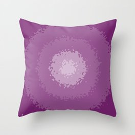 purple decay Throw Pillow