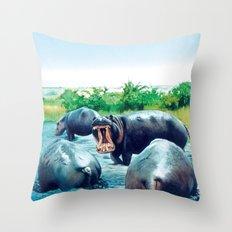 hippos Throw Pillow