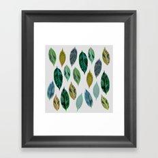 Green Leaves 2 Framed Art Print