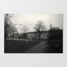 It's all black and white from here Canvas Print
