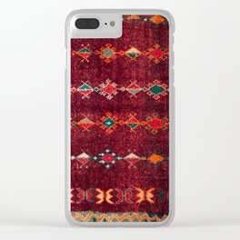 -A8- Colored Traditional Moroccan Carpet Artwork. Clear iPhone Case