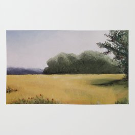 Autumn Field - Original Painting by Tracy Sayers Trombetta - Shades of Monet Rug
