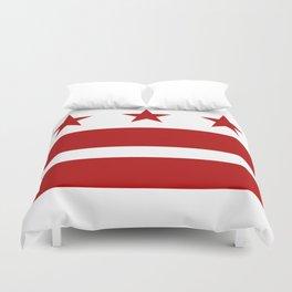 Washington DC District Of Columbia Flag Duvet Cover