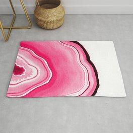Rose Pink Watercolor Agate Rug