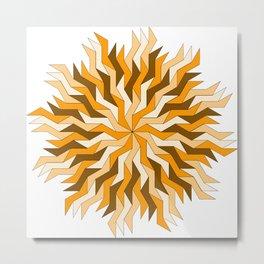 Orange Lightning Wheel Metal Print