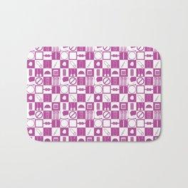 Contraception Pattern (Purple) Bath Mat