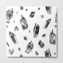 Smoky quartz pattern Metal Print