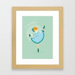 Dancer - Loretta Framed Art Print
