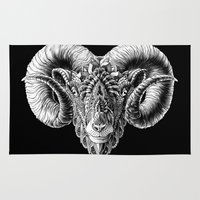 bioworkz Area & Throw Rugs featuring Ram Head by BIOWORKZ