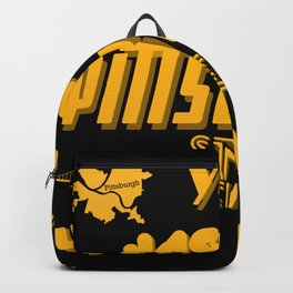 Pittsburgh Yinzer Jagoff Steel City 412 Retro Funny Gifts Backpack