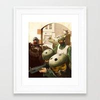 metal gear Framed Art Prints featuring Metal Gear by DarkPug