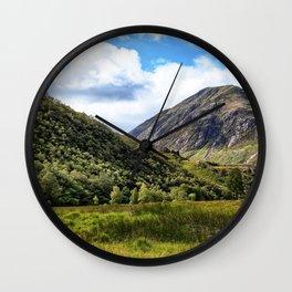 A walk in the Scottish Highlands, Glencoe. Wall Clock