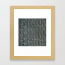 grey-pattern Framed Art Print
