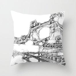 London sketch Throw Pillow