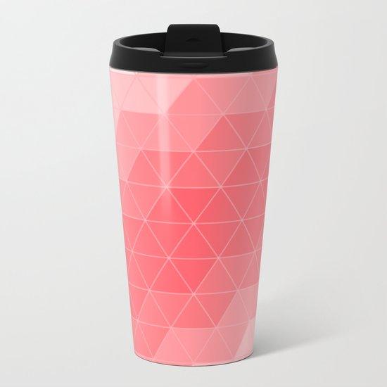 Triangle Coral Metal Travel Mug
