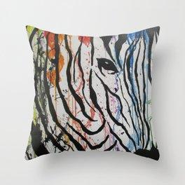 Splash of Zebra Throw Pillow