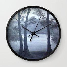 Lake mornings Wall Clock