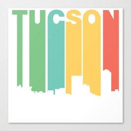 Retro 1970's Style Tucson Arizona Skyline Canvas Print