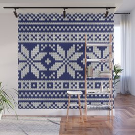 Winter knitted pattern 2 Wall Mural