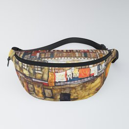 Egon Schiele House Wall on the River Fanny Pack
