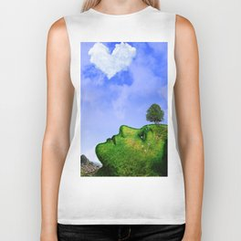 Mother Nature Smiling Biker Tank