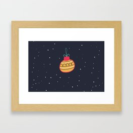 Merry Christmas and a Happy New Year Bauble Print Framed Art Print