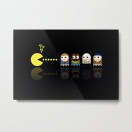 Pacman with A-Team Ghosts Metal Print