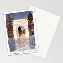 Washington Square Park at Night Stationery Cards