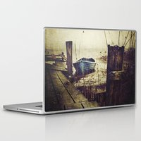 rowing Laptop & iPad Skins featuring Rugged fisherman by HappyMelvin