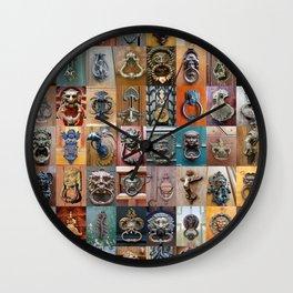 Door Knockers Montage Wall Clock