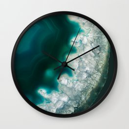 The abyss gazes back agate Wall Clock