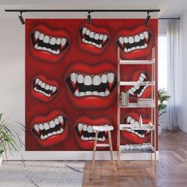 Vampire Bloody Fangs Wall Mural