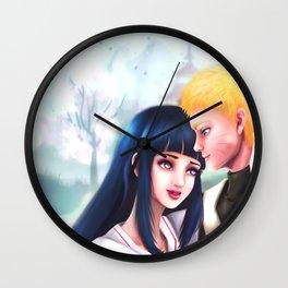 NaruHina Wedding Wall Clock