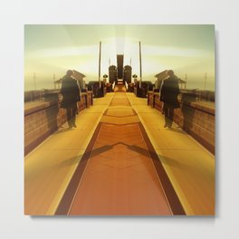 Towards the City of Infinitum Metal Print