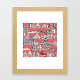 San Francisco coral Framed Art Print