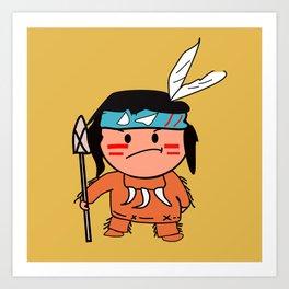 Little Red Indian Art Print