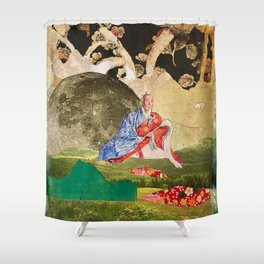 Peace by the Light of the Moon Shower Curtain