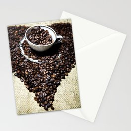 coffee art Stationery Cards