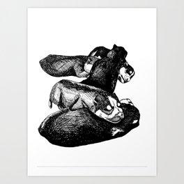 Siberian Husky Puppies Art Print