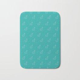Baesic Llama Pattern (Teal) Bath Mat