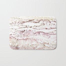 Brown pink marble Bath Mat