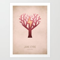 jane eyre Art Prints featuring Jane Eyre by Christian Jackson