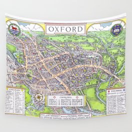 OXFORD university map ENGLAND dorm decor Wall Tapestry