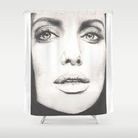 angelina jolie Shower Curtains featuring the lovely angelina... by als3