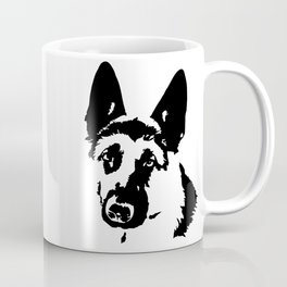 GIFTS FOR THE ALSATIAN AND GERMAN SHEPHERD DOG LOVER FOR YOU FROM MONOFACES Coffee Mug
