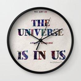 """Universe"" Print Wall Clock"