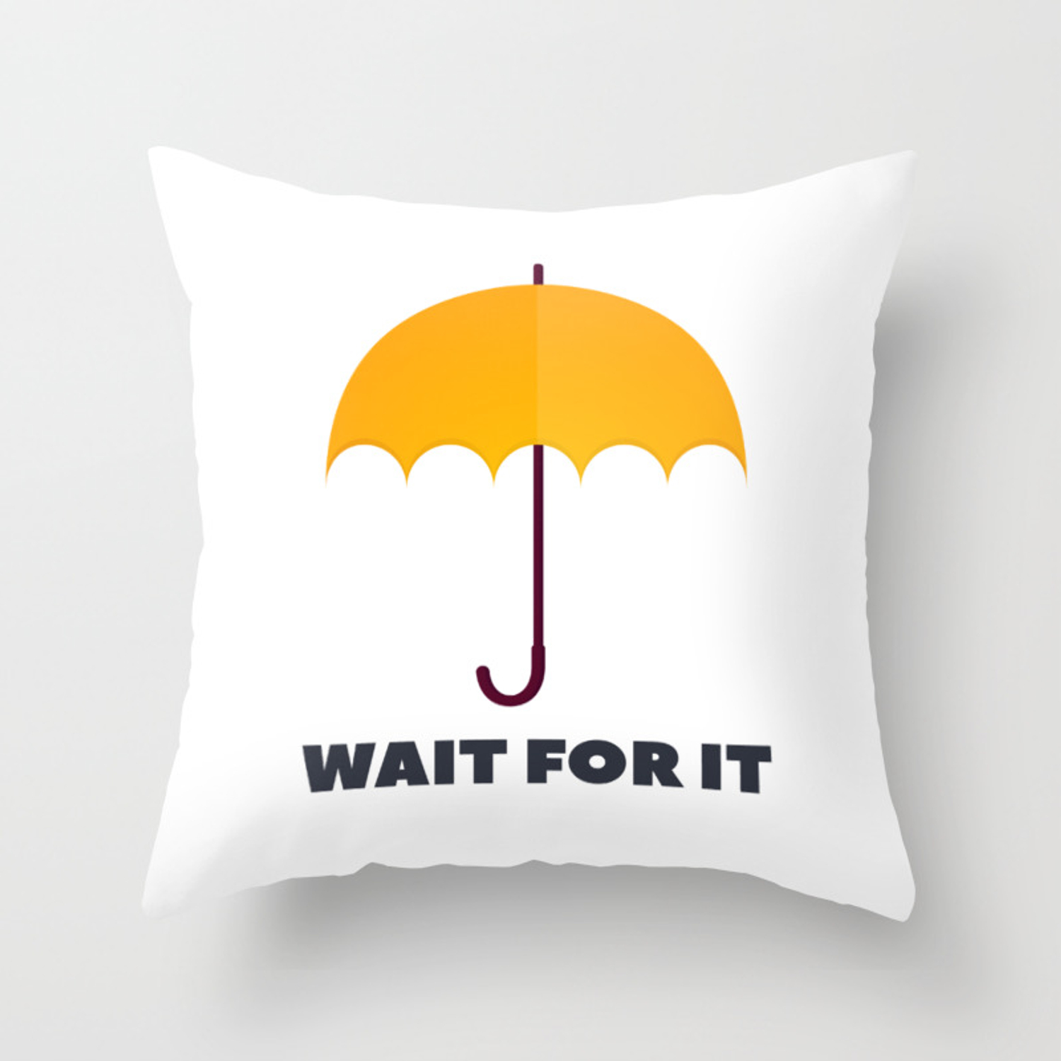 How I Met Your Mother Wait For It Yellow Umbrella Throw Pillow