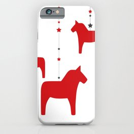 God jul - Dala style iPhone Case