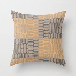 Bosque Gray&Orange Throw Pillow
